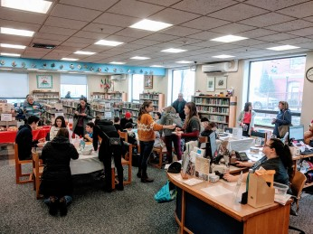 Middle Street Harry Potter themed festive fun at Sawyer Free Library _20191214_Gloucester MA ©c ryan