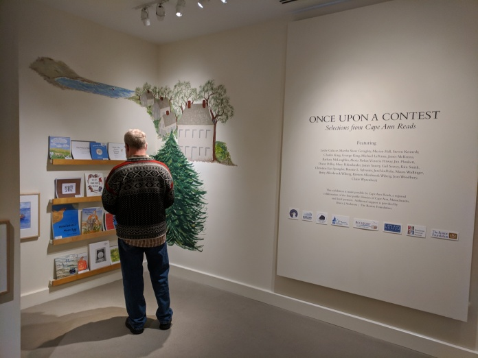 Once Upon a Contest travel exhibition thanks to supporters including Bruce J Anderson Foundation The Boston Fund_installation view Cape Ann Museum_20181222_©c ryan (2)