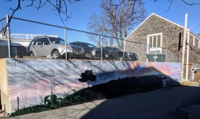 sun and shadows winter morning_artist JOSH FALK _street art mural 2019_ with support from Awesome Rockport_ outside Rockport Public Library_ Rockport Mass._20191209_photograph ©c ryan (1)