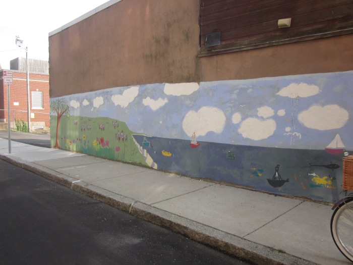 2012 mural across from common crow _on Cameron's building_ Elm Street off Main Gloucester Mass _ ©c ryan