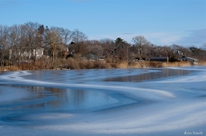 Ice Swirls Niles Pond copyright Kim Smith - 6