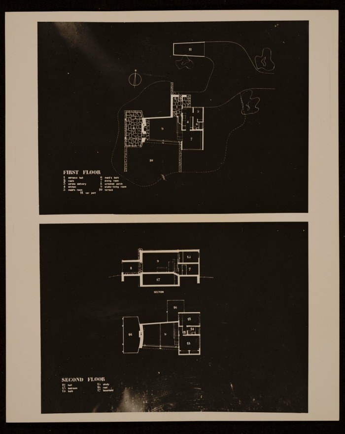 Marcel Breuer house 1 lincoln mass_floorplans Smithsonian archives