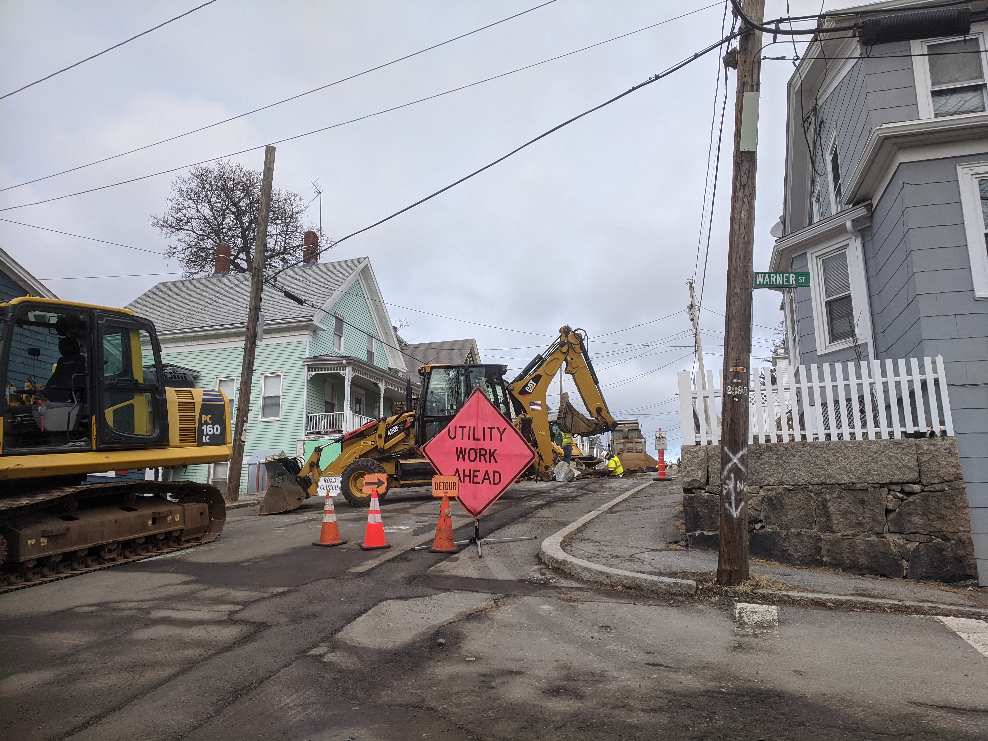 Millet and Warner Streets_thx Mayor, DPW getting $ past finish line _3 million all grant funded_ MassWorks_ infrastructure improvements_Gloucester MA_ photo © c ryan 2020 Jan 14.jpg