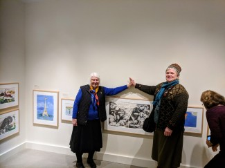 Once Upon a Contest Selection from Cape Ann Reads installation view at Cape Ann Reads mother daughter illustrator author team_Betty and Kirsten Allenbrook Wiberg _20190110_©c ryan