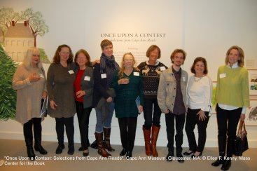 Once Upon a Contest Selection from Cape Ann Reads travel exhibition at Cape Ann Museum_with support Bruce J Anderson Foundation_photo copyright © Ellen F Kenny _Mass Center for the Book Jan 2019
