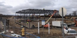 steel framing future YMCA former Fuller St Peter's school site _ Gloucester Crossing_Gloucester MA_20200114_©c ryan (1)