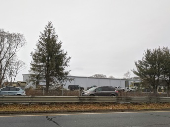 View from Poplar Street to Cape Ann Museum new collection building _extension campus off rotary Gloucester Mass 2019 Dec 27 ©c ryan (2)