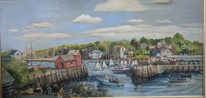 BETTY ALLENBROOK WIBERG Rockport harbor painting