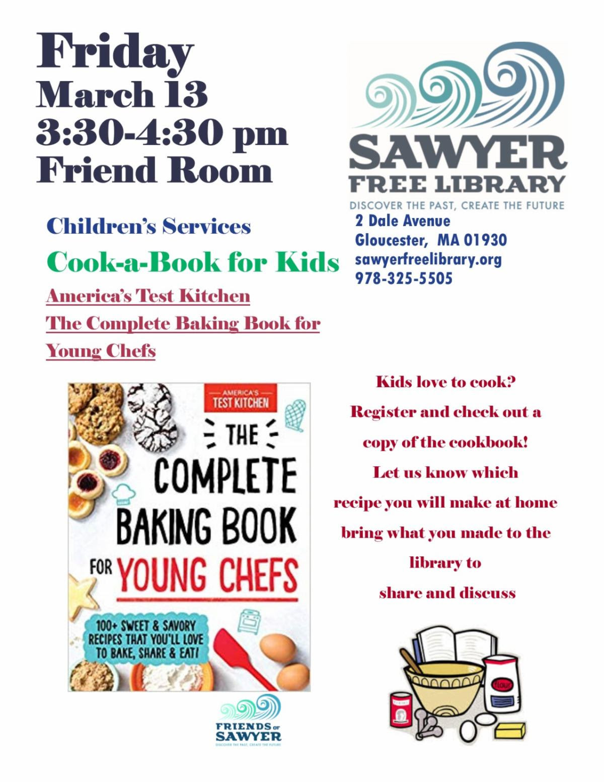 Cook a Book SFL flyer March 13