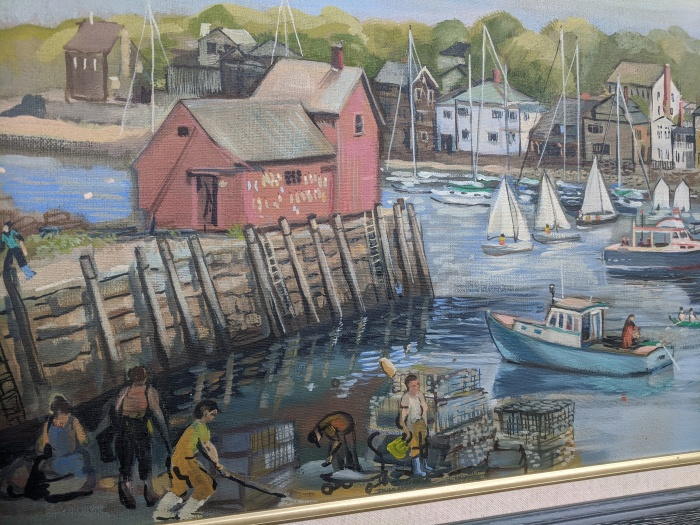 detail from Rockport painting by fine artist Betty Allenbrook Wiberg