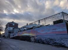 Falk mural moody winter sky Rockport Mass ©c ryan