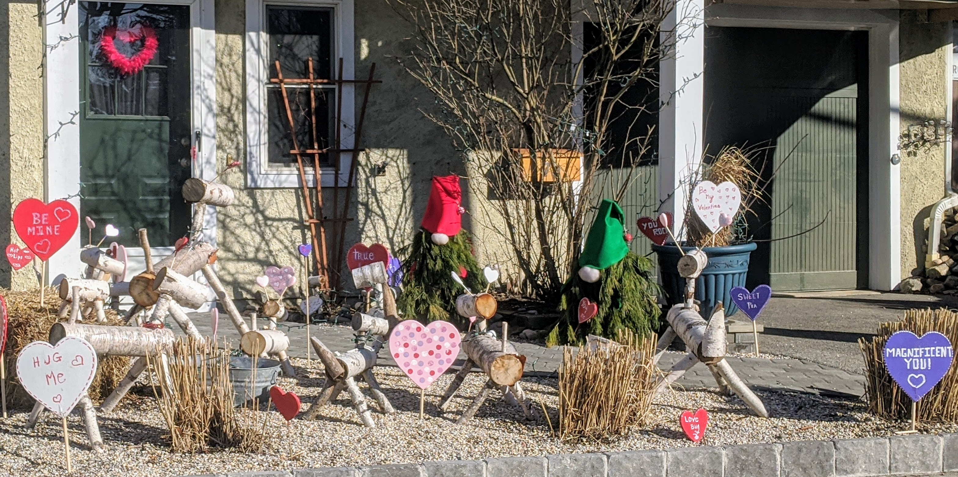 Holiday hearts _ yard decorations in Gloucester Mass ©c ryan (2)