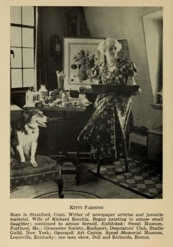 Kitty Parsons from Artists of the Rockport Art Assoc compiled by Hibbard, Parsons, Holberg, Recchia