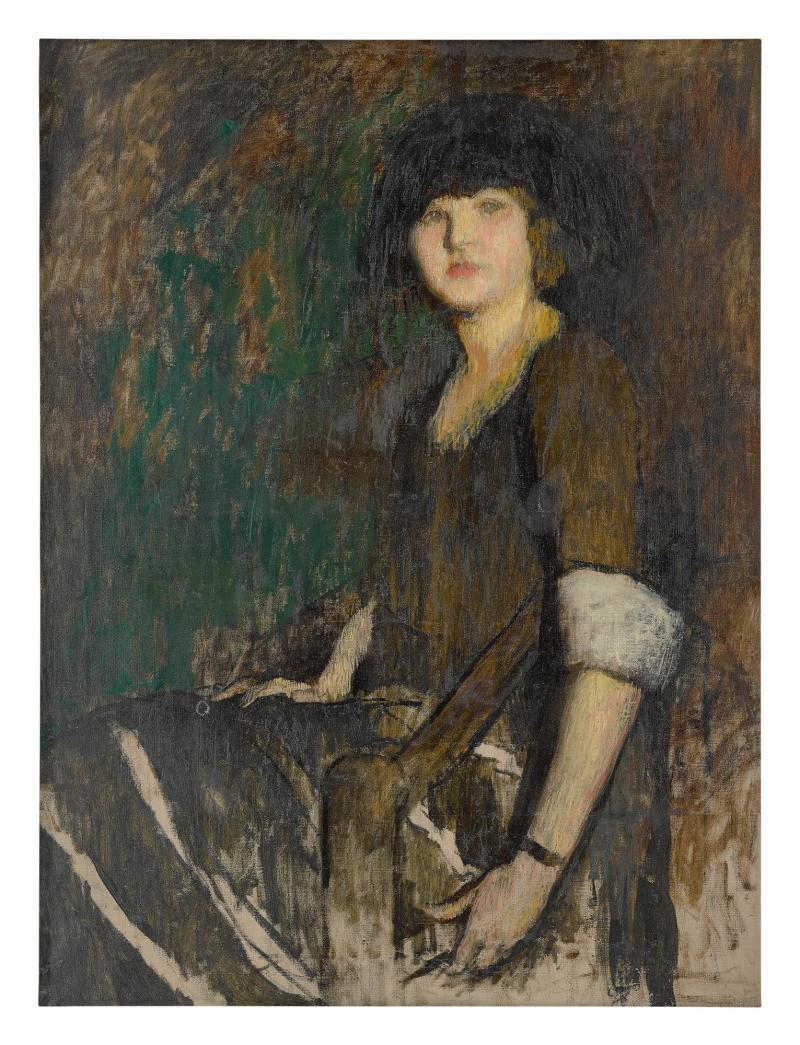 Lillian Westcott Hale study for Harriet Blake Sothebys Amer Art on line by March 5 2020 est 5000-7000
