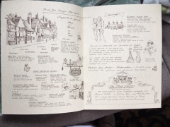 Lions Head Tavern Menu drawings by artist Betty Allenbrook Wiberg Rockport Mass. Kings Grant Inn (3)