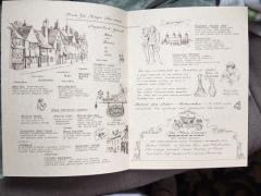 Lions Head Tavern Menu drawings by artist Betty Allenbrook Wiberg Rockport Mass. Kings Grant Inn (3)