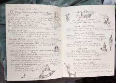 Lions Head Tavern Menu drawings by artist Betty Allenbrook Wiberg Rockport Mass. Kings Grant Inn (4)