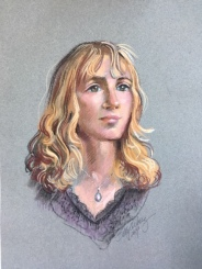 pastel portrait of Katie G by artist Betty Allenbrook Wiberg