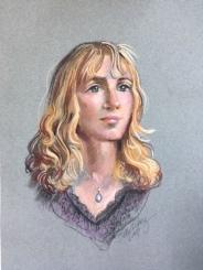 pastel portrait of Katie G by artist Betty Allenbrook Wiberg