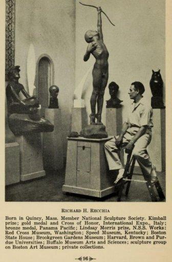 Richard H. Recchia Artists of Rockport Art Assoc progam 1940 compiled by hibbard, holberg, parsons, recchia