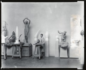 Smithsonian Recchia in his studio SAAM-J0071746