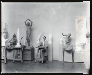 Smithsonian Recchia in his studio SAAM-J0071746