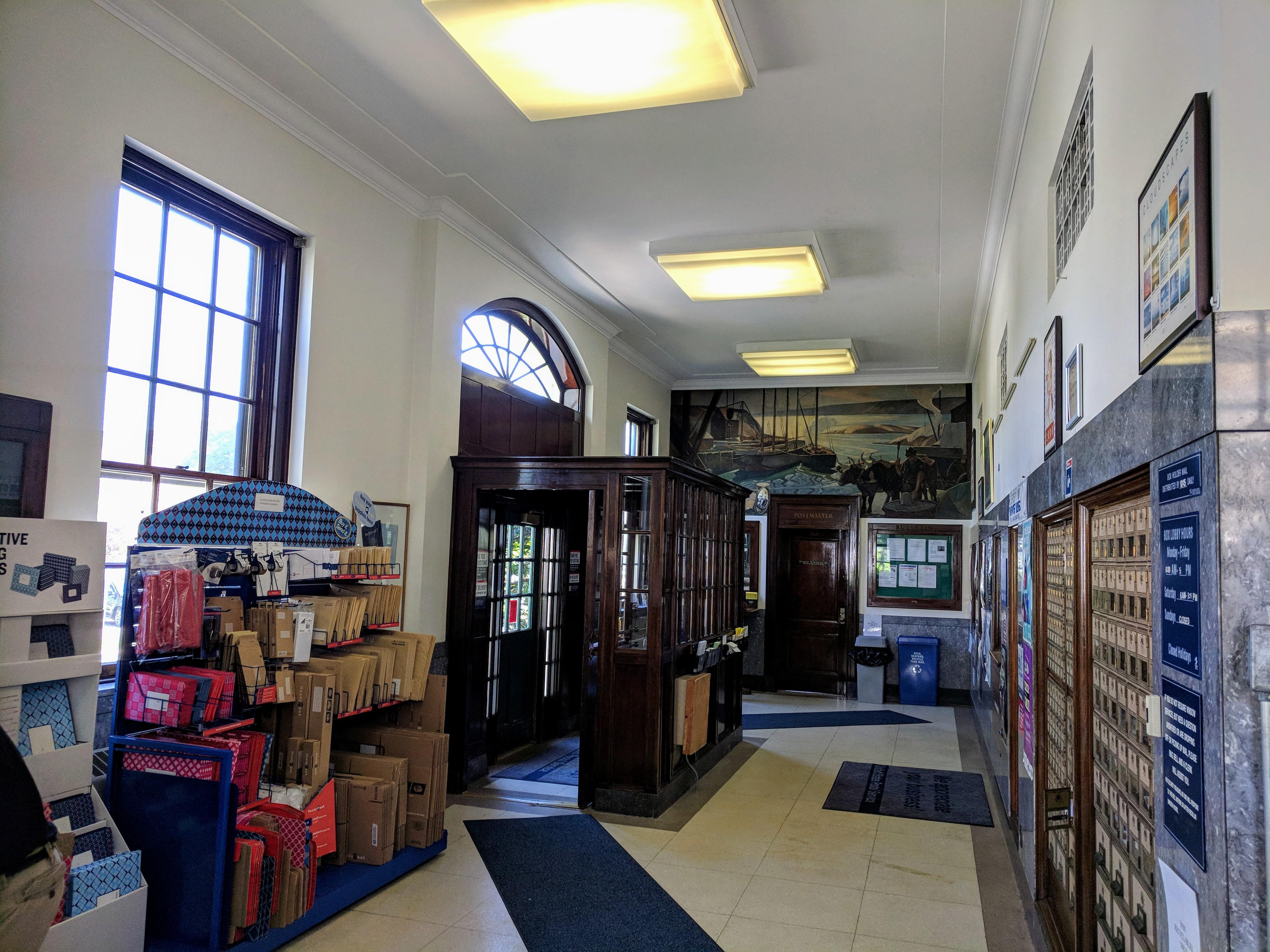 Stevens 1939 mural Rockport Mass post office