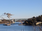 Sunny Saturday morning dredging Annisquam River_Gloucester Mass._ 20200222_photograph ©c ryan