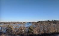View across to A. Piatt Andrew bridge_Annisquam River dredging_20200222_Gloucester, Mass._ photograph ©c ryan
