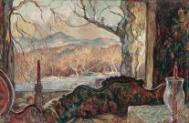 william lester stevens thru the window lot 68 Doyle auction March 10 2020 est 5000 to 7000