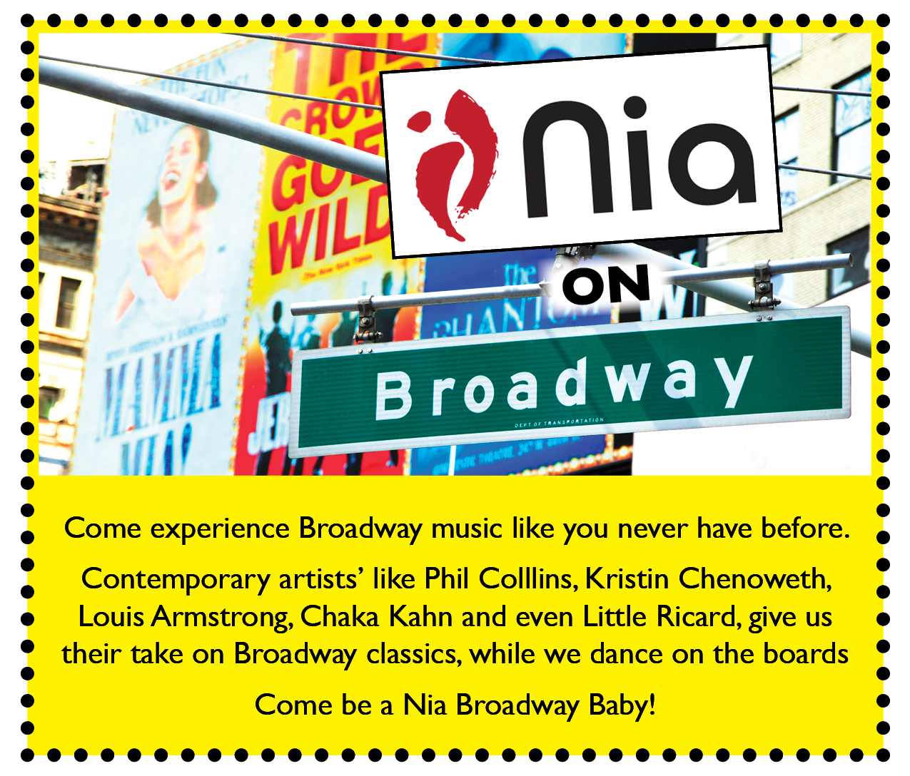 nia flyer shout out broadway
