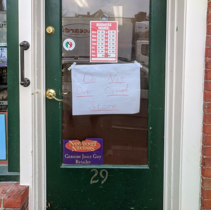 signs of the times_Virgilio's open for take out_covid-19 _Gloucester MA_20200324 ©c ryan