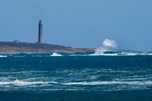 South Light Thacher Island Waves Rockport Atlantic Coast Storm copyright Kim Smith - 5 of 37