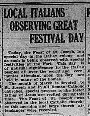 St. Joseph's Day GDT Mar 18 1924