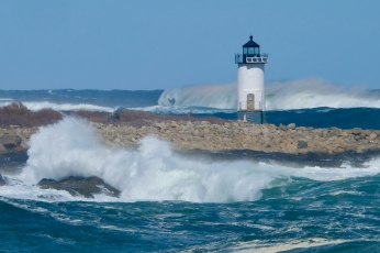 Straitsmouth Island Light Rockport Waves Atlantic Coast Storm copyright Kim Smith - 15 of 37