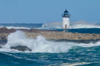 Straitsmouth Island Light Rockport Waves Atlantic Coast Storm copyright Kim Smith - 15 of 37