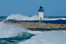Straitsmouth Island Light Rockport Waves Atlantic Coast Storm copyright Kim Smith - 16 of 37