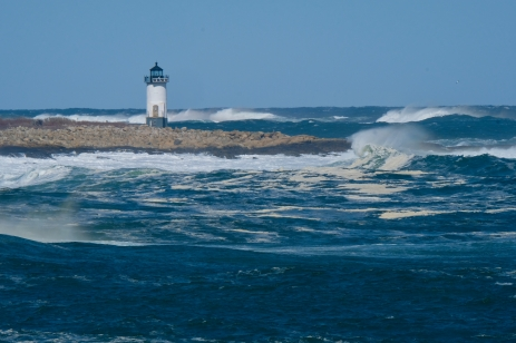 Straitsmouth Island Light Rockport Waves Atlantic Coast Storm copyright Kim Smith - 19 of 37