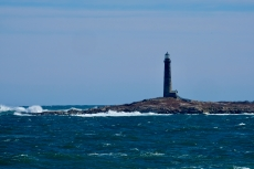 Thacher Island North Light Rockport Waves Atlantic Coast Storm copyright Kim Smith - 18 of 37