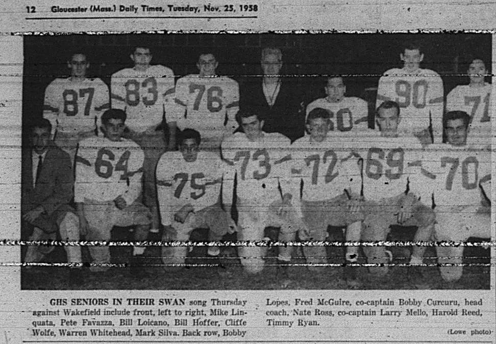 Timothy Senior game GDT Nov 25 1958