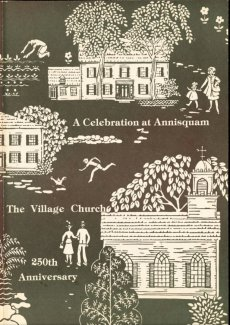 Cover by Louise Kenyon courtesy Folly Cove Designers for A Celebration at Anniquam The village Church 250th anniversary commemorative boolet by Paul Kenyon 1979