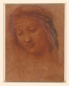 Da Vinci study head of woman (madonna)_Royal Collection_id 912534