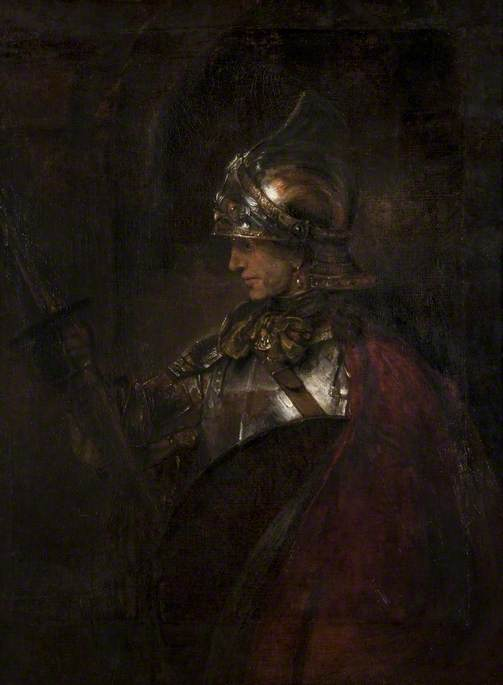 Rembrandt van Rijn, 1606-1669; A Man in Armour