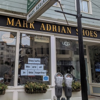 Stay safe. We are all in this together. Mark Adrian Shoes Main Street Gloucester Mass_20200328_©c ryan