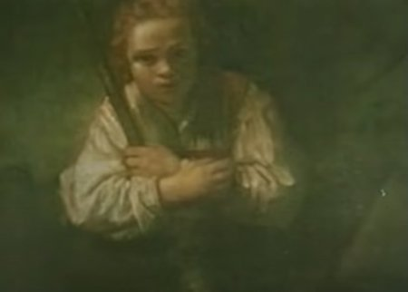 still from Classical Gas music video_detail girl with broom_no longer attributed to Rembrandt_ National Gallery of Art