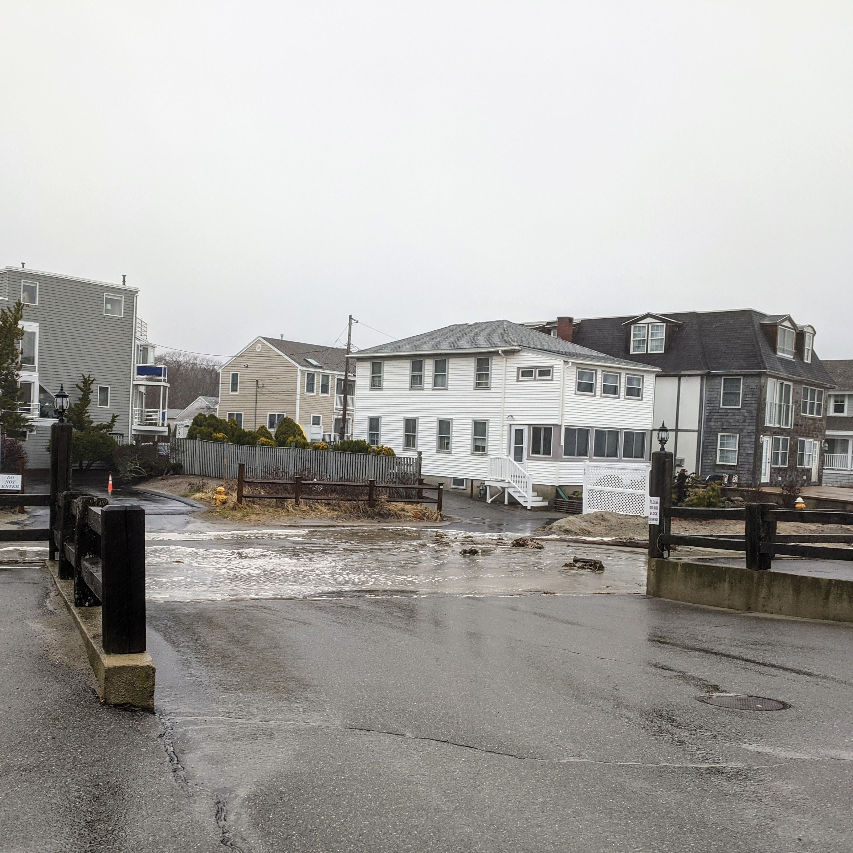 super high tide floods into street_ April 3 2020_Long Beach Gloucester Mass end ©c ryan
