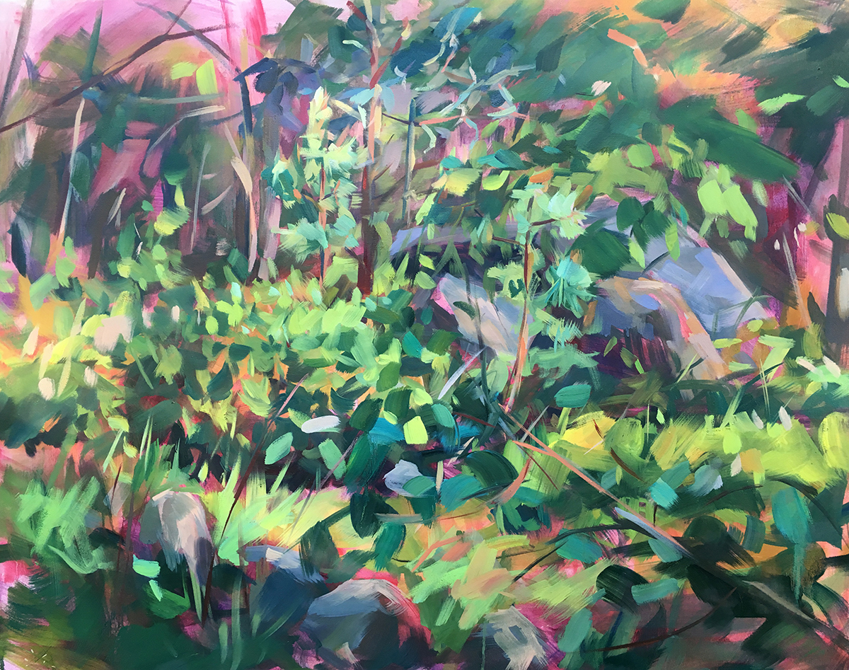 VMichalak . Blueberry Patch, Dogtown 2019 . Oil on canvas . 36x48 inches