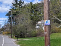 BE KIND, blue, Signs of the times_Gloucester Mass., 5 May 2020, © c ryan