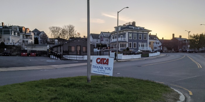 CATA THANKS EMPLOYEES _Signs of the times_Gloucester Mass., covid-10, May 2020, © c ryan