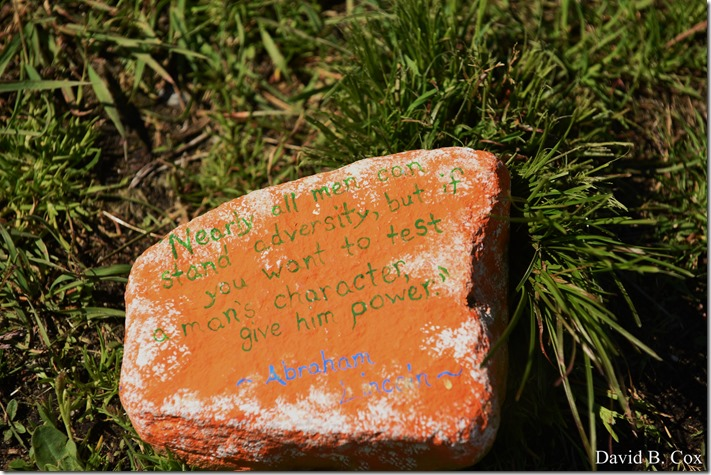 2020 6 1 Blvd painted Rocks & Protest At Rotary 021